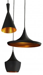 MIX BLACK/GOLD Lampa wisząca AZzardo FB6901/3 BK/GO
